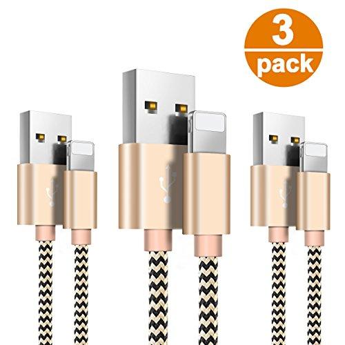 Cable Phone-Zeuste Cargador Phone [3PACK 1.5M] de Nylon Trenzado Cable USB Compatible...