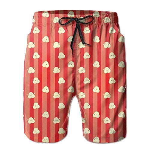 Jhonangel Süße tanzende Popcorn-Badehose für Männer mit schnell trocknenden Strand-Boardshorts und Badehose XL