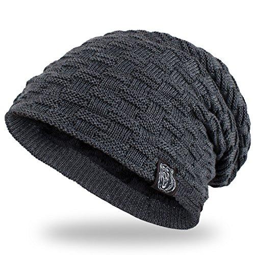 ANVEY Slouch mütze winter ski Beanie hut unisex Grau