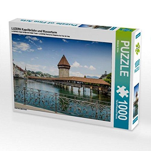 LUZERN Kapellbrücke und Wasserturm 1000 Teile Puzzle quer