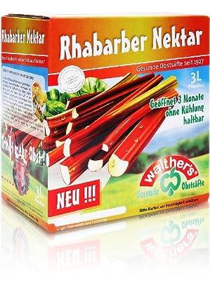 Walthers Rhabarber-Nektar, 2er Pack (2 x 3 l Saftbox)