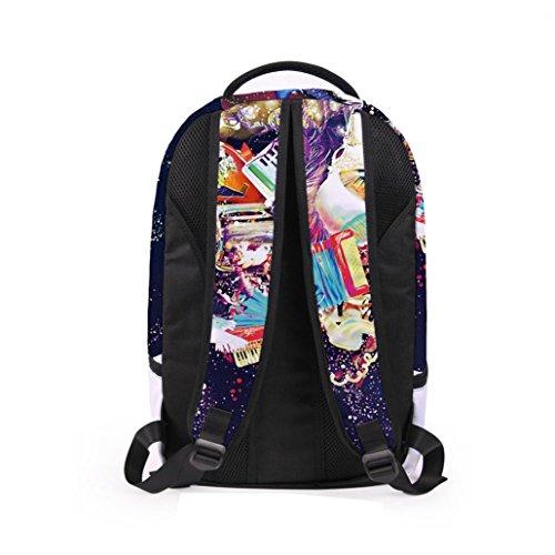 Lanspo Rucksack Sport Beutel Frauen Mann 3D Galaxie Spielraum Schultaschen Rucksack Rucksack Schulter Bookbag Schule Beutel kampierender Beutel A