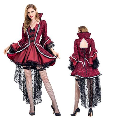 Red M&m Deluxe Kostüm - 0-0 Erwachsene Frauen Große Größe rot Deluxe Witch Queen Kleid zum Halloween-Kostüm-Abendkleid-Partei Thema Parteien Cosplay,Red-M