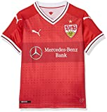 Puma Kinder VfB Kids Away Repl.Shirt w.Sponsor Shirt, Ribbon Red, 152