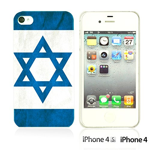 OBiDi - Flag Pattern Hard Back Case / Housse pour Apple iPhone 4S / Apple iPhone 4 - Germany Israel