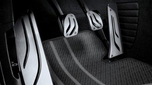 BMW Original Pedalauflagen LHD Edelstahl M Performance für 5er F10 F11 - Automatik