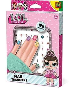 SES Creative Surprise L.O.L. Calcomanías para uñas, Color Bunte aufkleber (14193)
