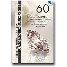 Glückwunschkarte Zur Diamantenen Hochzeit Herzlichen Glückwunsch Zur  Diamanthochzeit | ALL582