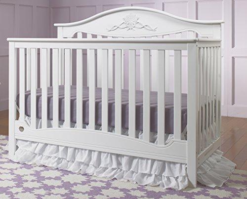 Fisher-Price Mia 4-in-1 Convertible Crib, Snow White
