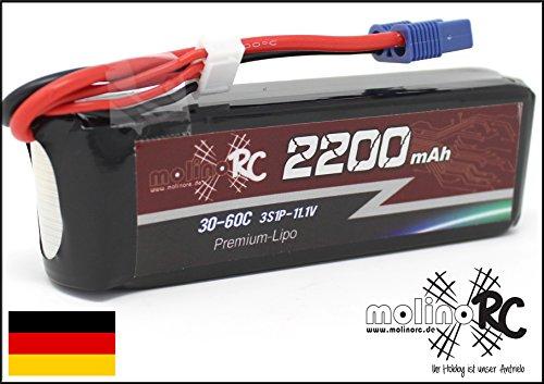 Mahler Telekommunikation - Horgau Tiger Platinum 2200mAh 30C - 60C 3S 11,1V Premium LiPo Akku Li-Po 30C 60C