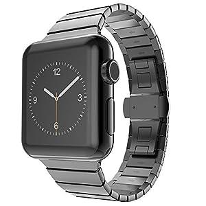 CoverKingz Edelstahl Armband geeignet für Apple Watch 42mm/44mm für Series 4/3/2/1 Ersatzarmband Stainless Steel Metall-Armband