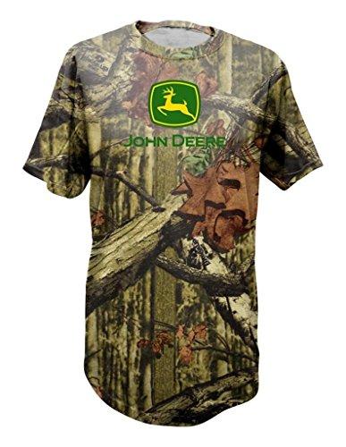 John Deere Top of The World Herren T-Shirt Logo Camouflage, Herren, Jd Green, X-Large - Jd John Deere
