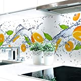 Küchenrückwand Orange Splash Premium Hart-PVC 0,4 mm selbstklebend 220x60cm