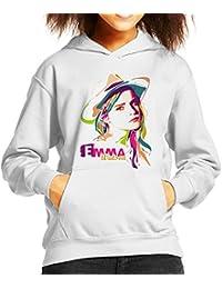 Geometric Celebrity Emma Watson Kid's Hooded Sweatshirt