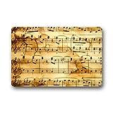 yesliy Fußmatte Vintage Musik Note Kunst Muster Fußmatte/Front Tür/Bad-Teppich Mats Fußmatte 59,9x 39,9cm