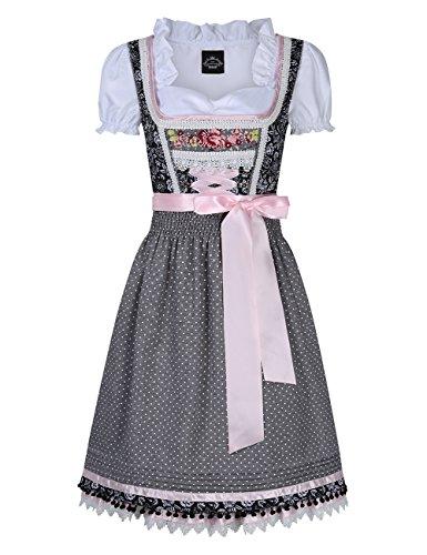 Bavarese dirndl set 3 pezzi,gonna corta,abito da donna,abbigliamento tradizionale,costume per oktoberfest,formato s-2xl