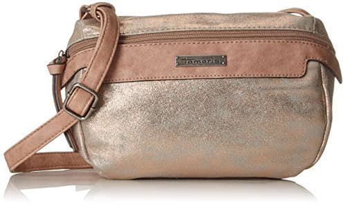 Tamaris Damen Ava Crossbody Bag Umhängetasche, Gold (Copper Comb.), 9,5x16x24,5 cm (Umhängetasche Ava)