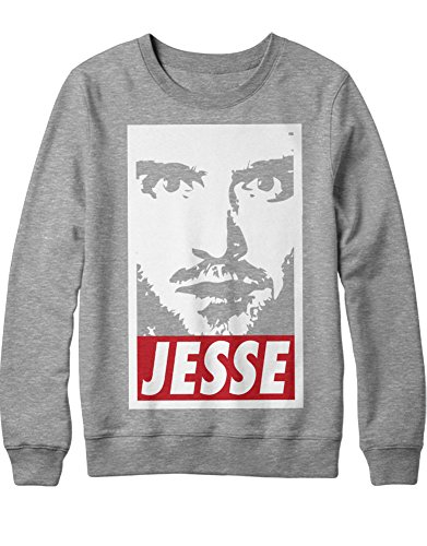 Sweatshirt Cook Series Jesse Pinkman Walter White Crystal Meth Hype C980018 Grau M (Breaking Bad Crystal Meth Kostüm)