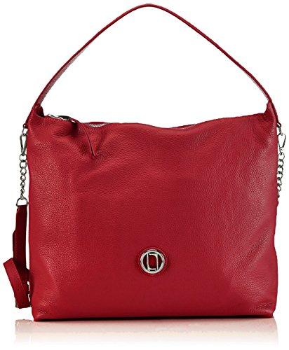 Laurèl Damen Tasche Schultertaschen, (Rot 530), 40x32x12 cm -