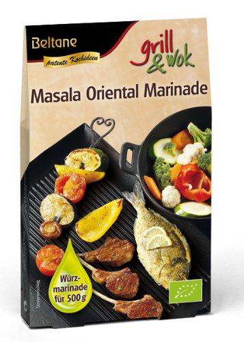 Beltane grill&wok Masala Oriental Marinade für 500 g Fleisch, Gemüse oder Fisch, 5er Pack  (5 x  50 g) - Bio
