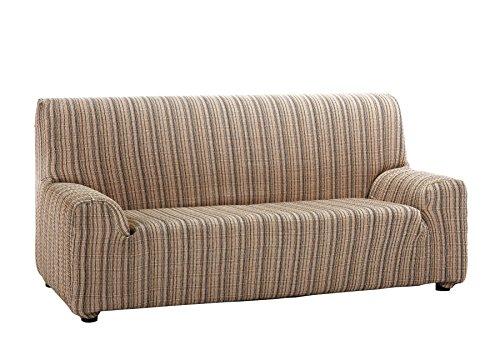 Custodia di divano elasticizzato modello mejico 3 posti marrone