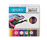 #7: Apsara 101256003 Color Pencils - 26 Shades (Multicolor)