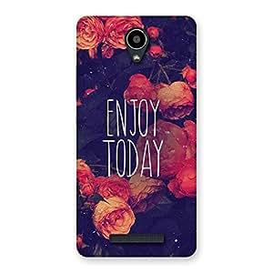 Premium Enjoy Today Multicolor Back Case Cover for Redmi Note 2