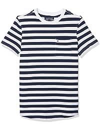 Tommy Hilfiger AME Bright Pique Stripe CN Knit S/S, Camiseta Para Niños