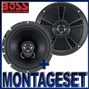 Boss Audio CE 651S haut-parleurs extra plats pour Ford Focus 2 / Focus MK2 C -Max à partir de 2004 portes arrière