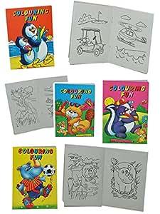 1 Stück: Mini Malbuch / Malheft KLEIN - verschiedene Motive - Auto - Tiere u.v.m. - 16 Seiten - für Jungen und Mädchen - kleine Malvorlagen - Malbücher Ausmalbilder