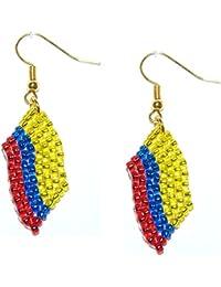 England St George cross Bead Flag Earrings - Handmade Bead Work Jewellery spDBBjcLIi