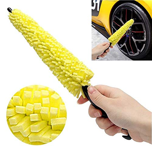 Sarplle spazzola spazzola per la cura dell'auto spazzola per spugna professionale per ruote in lega, cerchi in acciaio, pulizia e cura