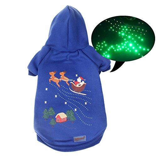Besten Flash Kostüm (pawow Pet Hund LED Tricks Hoodie Pullover Coat Puppy Weihnachten Kostüm)