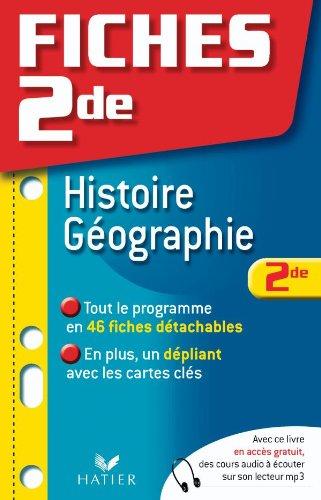 Fiches 2de Histoire-Géographie