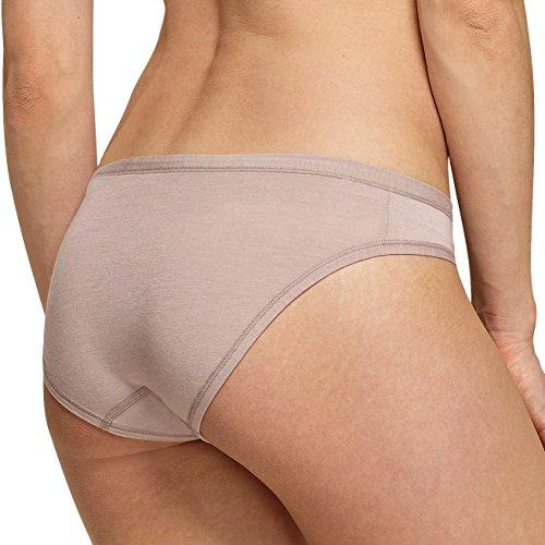 SCHIESSER Damen Mini Slip Personal Fit 4er Pack Braun (300)