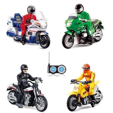 RC Ferngesteuertes Motorrad im Motobike, Harley, Chopper und Polizei Design, Modell-Maßstab 1:18, Ready-To-Drive, Inkl. Fernsteuerung, 15km/h, (Super-racing Seat)