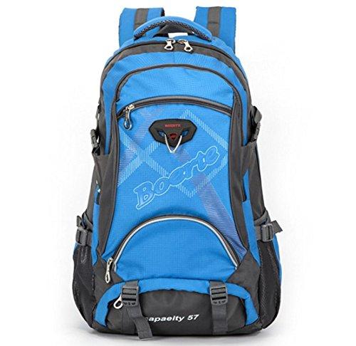 LQABW La Corsa Esterna Di Grande Capienza Borsa A Spalla Delle Signore Di Estate Camminare Panno Uomini Oxford Resistenti E Leggeri Escursionismo Zaino 40L,Red Blue