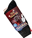socksPUR HEAT KEEPER Thermo-Socken innen geraut / 1 PAAR (41-46, schwarz)