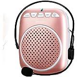 SHIDU SD-S308 Rechargeable Wired Sprachverstärker, 5 Watts Lautsprecher with 1000mAh Lithium Battery für Lehrer/Trainer/Reiseführer/Yoga Lehrer und Mehr (Rose Gold)