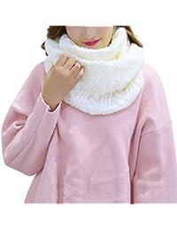 d607d3a1391 iShine Mode Echarpe Tricoté Tube Foulard Tubulaire Echarpe en Tour au Cou  pour Femme Fille Cache