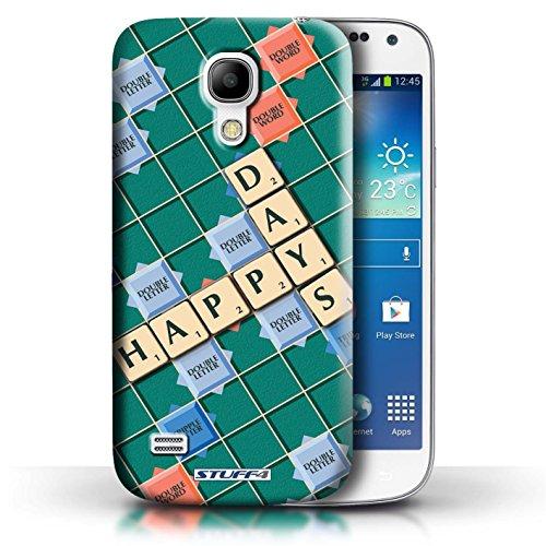 Coque de Stuff4 / Coque pour Samsung Galaxy S4 Mini / Aucun Douleur Gain Design / Mots de Scrabble Collection Jours Heureux