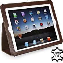 Funda Executive Stilgut original en piel autentica con función de soporte para el Apple iPad 3 & iPad 4, caffè
