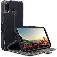 Huawei P20 Lite Hülle, Terrapin Leder Tasche Case Hülle im Bookstyle mit Standfunktion Kartenfächer für Huawei P20 Lite Hüllen - Schwarz