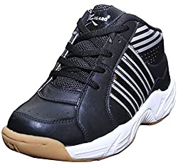 Port Z05 Black Silver Tennis Shoes(6 Ind/Uk)
