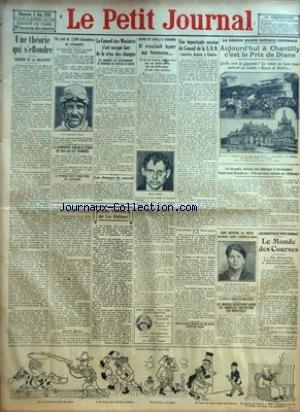 PETIT JOURNAL (LE) [No 23152] du 06/06/1926 - UNE THEORIE QUI S'EFFONDRE - EINSTEIN ET LA RELATIVITE PAR ABBE TH MOREUX - UN RAID DE 2 000 KILOMETRES EN AVIONNETTE - LE LIEUTENANT THORET EST PARTI HIER POUR L'ACCOMPLIR - LA RANDONNEE DAKAR-LE TCHAD EN SIDE-CAR EST TERMINEE - LA PRINCESSE MARY D'ANGLETERRE EST SOUFFRANTE - LE CONSEIL DES MINISTRES S'EST OCCUPE HIER DE LA CRISE DES CHANGES - LES MEMBRES DU GOUVERNEMENT SE REUNIRONT DE NOUVEAU CE MATIN - DRAME DE FAMILLE A CHARONNE - IL VOULAIT TU par Collectif