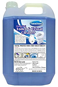TetraClean Premium Toilet cum Urinal Cleaner - Advanced Disinfectant and Stain Remover with Air Freshening Formula - 5 Liters