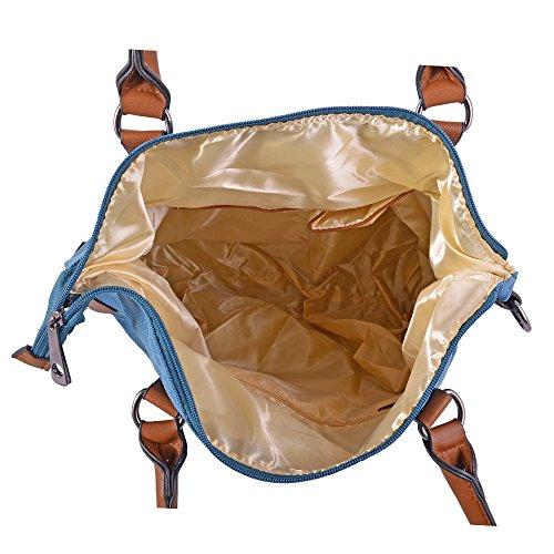 8f31d8adddef2 ... LeahWard® Groß Schule Taschen Damen Segeltuch Schultertasche Handtasche  A4 160163 160164 160163-Diver ...
