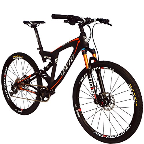 51YsqACYjCL. SS500  - BEIOU Carbon Dual Suspension Mountain Bicycles All Terrain 27.5 Inch MTB 650B Bike SHIMANO DEORE 10 Speed 12.7kg T700 Frame Matte 3K CB22