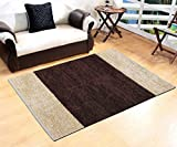 Yellow Weaves™ Brown-Beige Feather Touch Carpet - 3 X 5 Ft