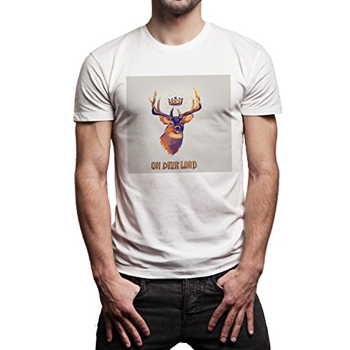 Oh Deer Lord Background Herren T-Shirt Weiß